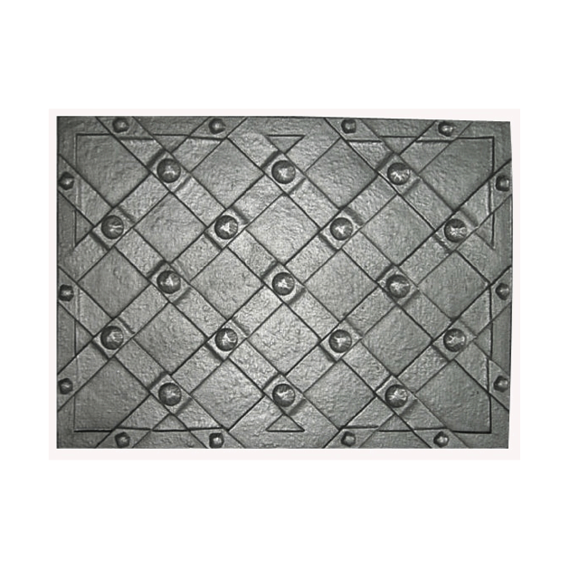 Plaque fonte Damiers a clous 80 x 64 cm