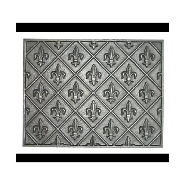 Plaque fonte Fleurs de lys 85 x 65 cm