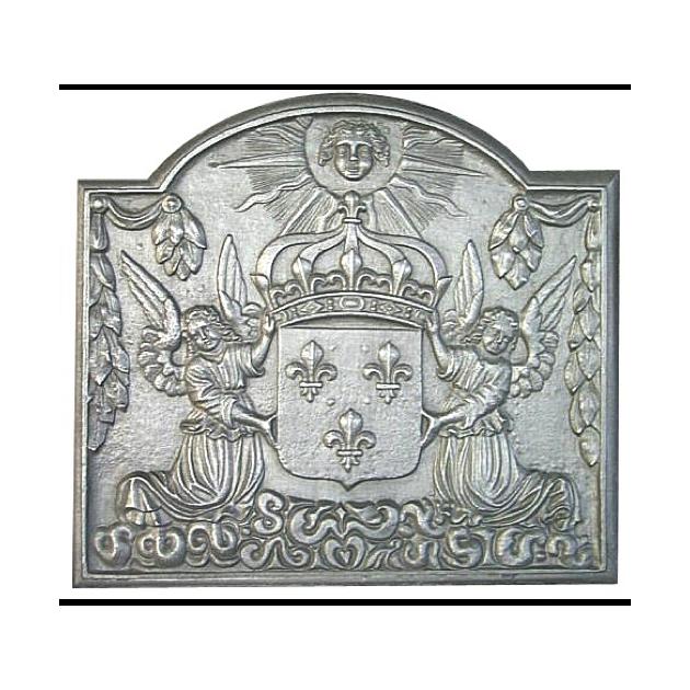 Plaque fonte Anges Louis XVI 85 x 77 cm