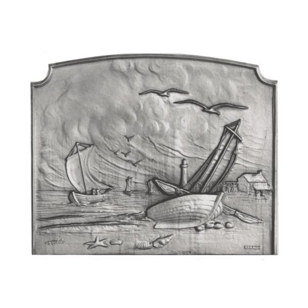 Plaque fonte Le bateau 90 x 75 cm