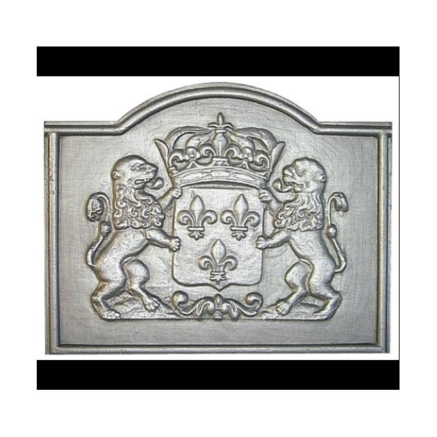 Plaque fonte Lions & fleurs de lys 90 x 70 cm