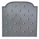 Plaque fonte Semis de clous 90 x 90 cm