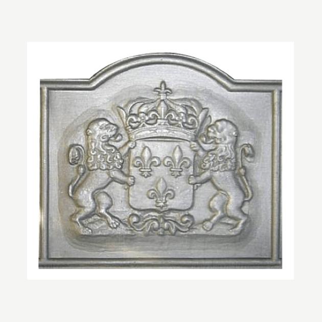 Plaque fonte Lions & fleurs de lys 90 x 80 cm