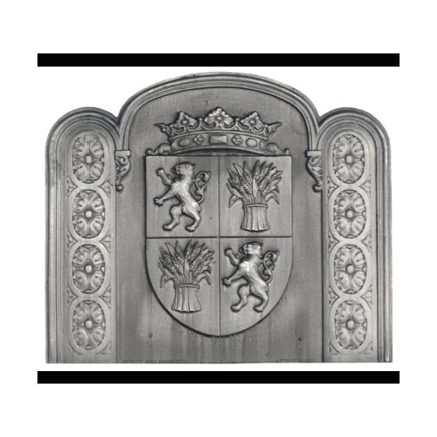 Plaque fonte La gascogne ornee 100 x 84 cm