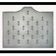 Plaque fonte Semis d'hermines 110 x 90 cm