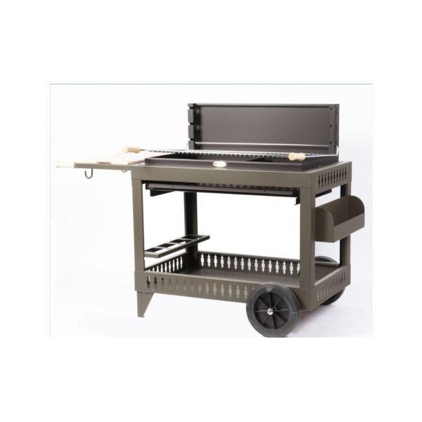 le mod le iholdy noir avec chariot le barbecue charbon de. Black Bedroom Furniture Sets. Home Design Ideas