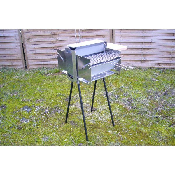 charbon de bois > Barbecue charbon de bois BioGrill vertical inox ~ Barbecue Vertical Bois