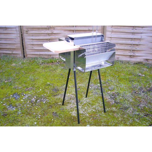 Le barbecue Biogrill, un barbecue vertical composé inox