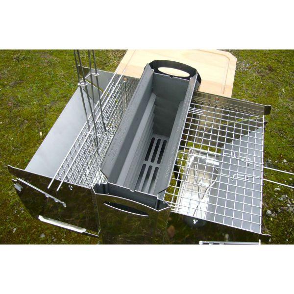barbecue vertical inox biogrill. Black Bedroom Furniture Sets. Home Design Ideas