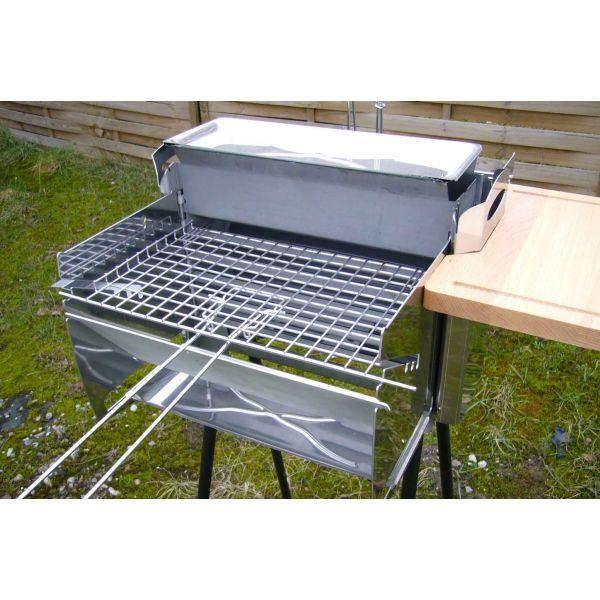 le barbecue biogrill un barbecue vertical compos inox. Black Bedroom Furniture Sets. Home Design Ideas