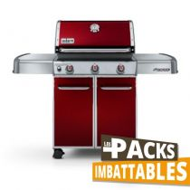 Pack barbecue gaz Weber Genesis E-310 Rouge