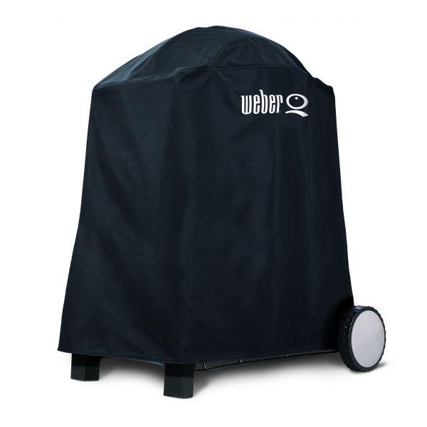 Housse weber pour s rie q 1000 et 2000 avec chariot for Housse barbecue weber