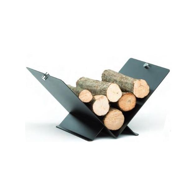 Réserve à bois 56X39 cm triangle noir
