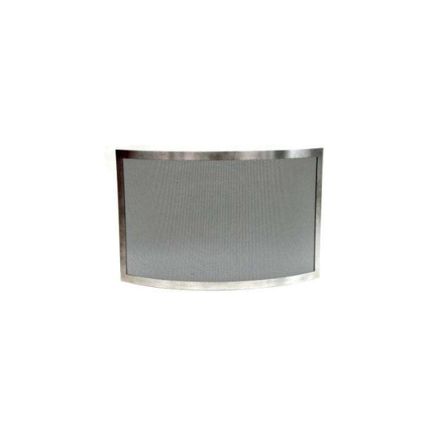 PARE FEU INOX 1 VOLET COURBE GM 90x60