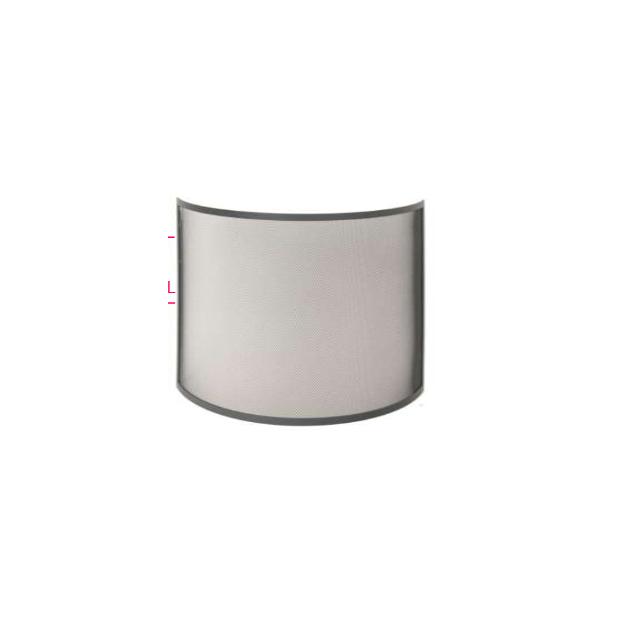pare feu cheminee forge de rodez en acier vernis arondi special poele 75 x 85 cm. Black Bedroom Furniture Sets. Home Design Ideas