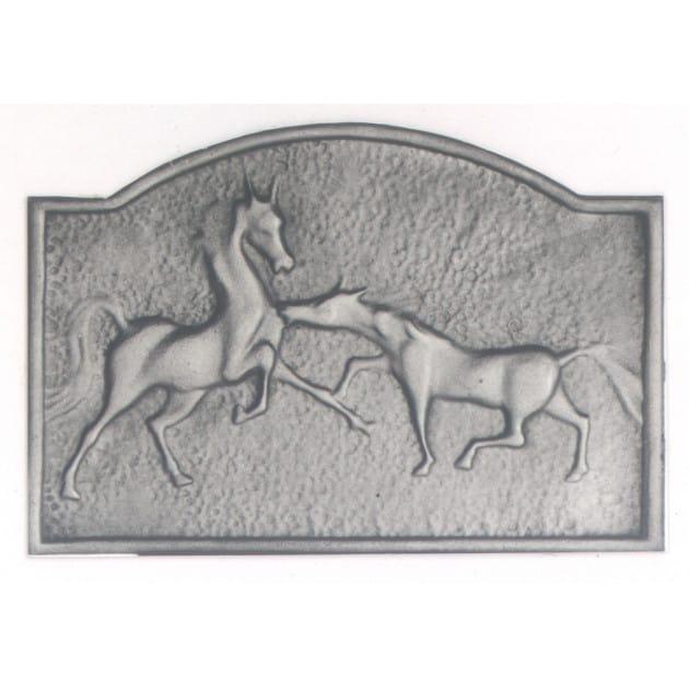 Plaque décorée Rybacki chevaux sauvages 60x40 30kg