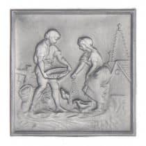 Plaque décorée Rybacki la basse cour 50x50 30kg