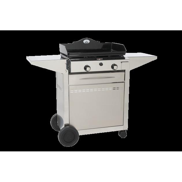 Barbecue plancha gaz inox cheap plancha gaz inox comparer les prix avec kibodio with barbecue - Plancha electrique ou gaz ...