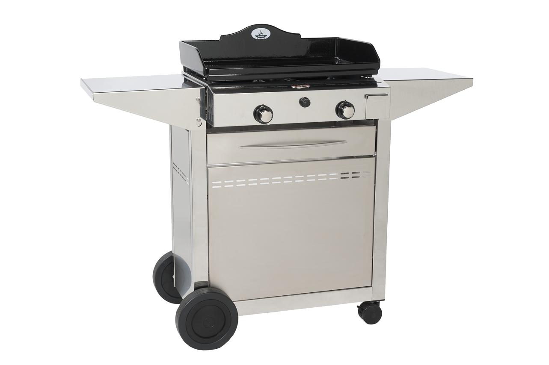 plancha gaz avec chariot et couvercle cheap barbecue gaz sries woody lx grille plancha. Black Bedroom Furniture Sets. Home Design Ideas