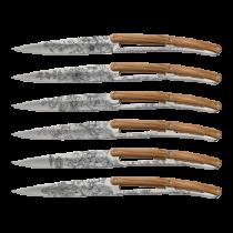 Set 6 couteaux de table Deejo Miroir Olivier Fleur