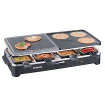 Appareil Raclette Grill Cuisson sur Pierre 8 personnes