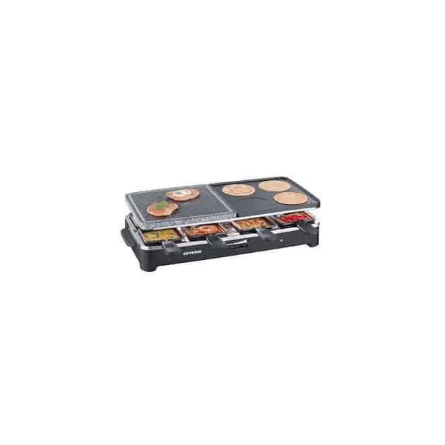 Appareil raclette grill cuisson sur pierre pour 8 personnes severin - Cuisson basse cote a griller ...