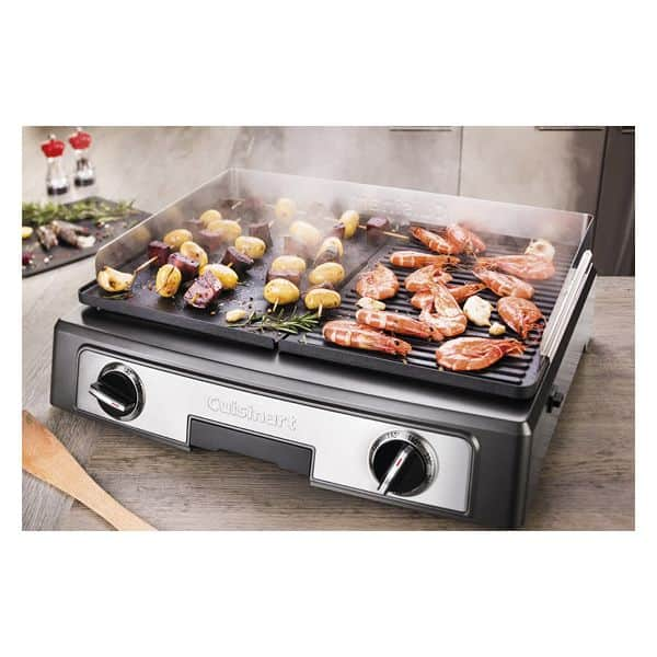 Plancha grill de table cuisinart 2200w - Grill electrique de table ...