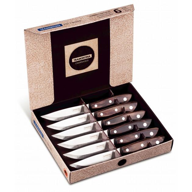 Coffret 6 couteaux viande Marron Tramontina
