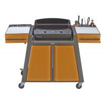Chariot bistrot gris canon / orange pour plancha Eno 60