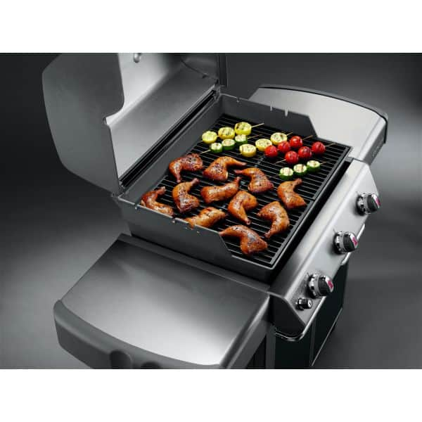 Le mod le genesis e 310 gris le barbecue gaz weber for Barbecue weber gaz q120