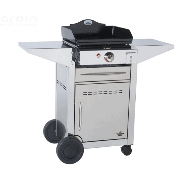 plancha gaz forge adour prestige 450 avec son chariot inox ferm. Black Bedroom Furniture Sets. Home Design Ideas