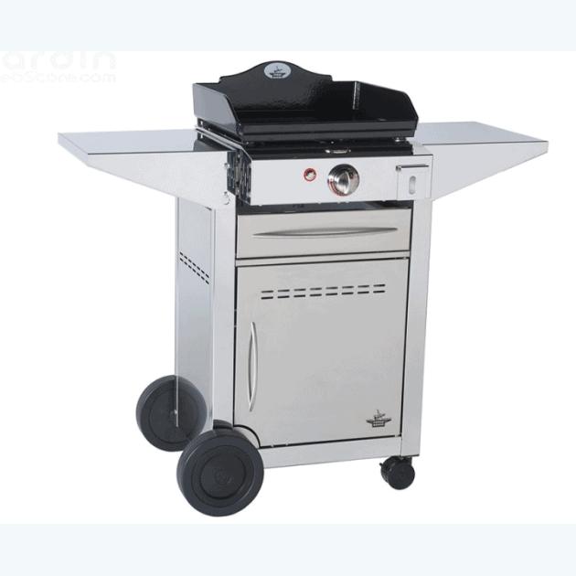 Plancha Forge Adour Prestige 450 + chariot inox fermé