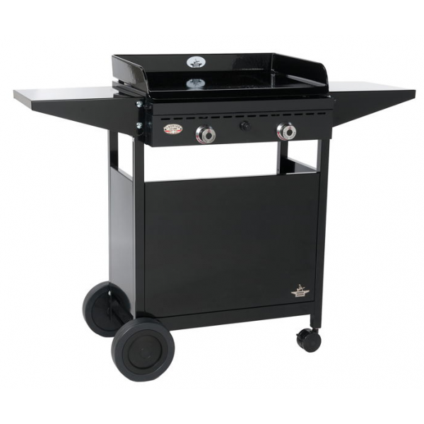 plancha gaz forge adour iberica 600 avec son chariot en fer ferm. Black Bedroom Furniture Sets. Home Design Ideas