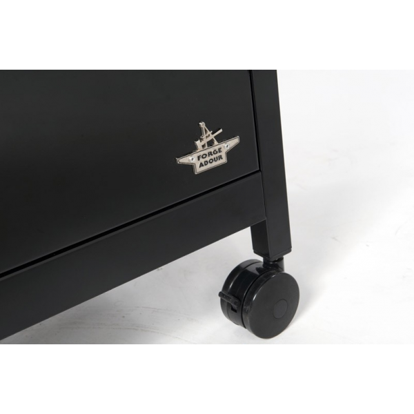 plancha gaz forge adour iberica 750 avec son chariot en. Black Bedroom Furniture Sets. Home Design Ideas