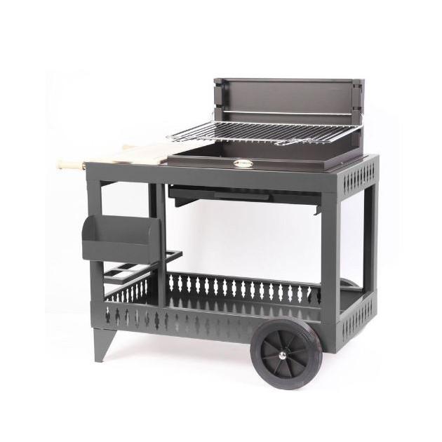Barbecue charbon de bois Le Marquier Montory anthracite