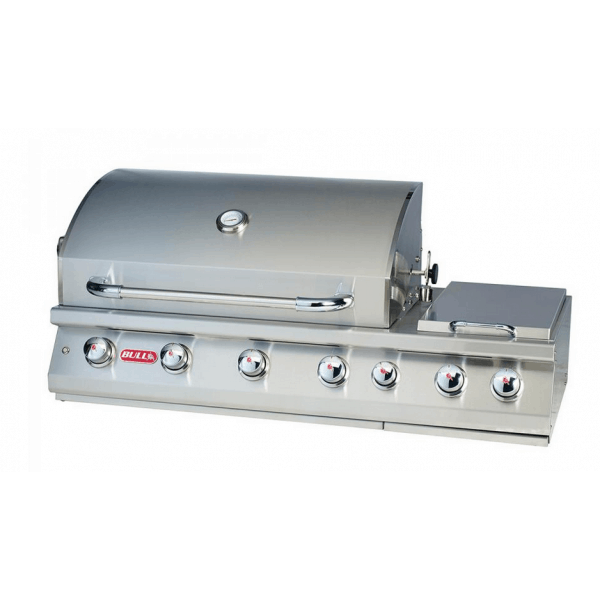 Bi 7 burner premium barbecue gaz encastrable bull 4 br leurs en inox - Barbecue gaz encastrable ...
