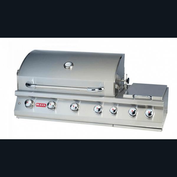 Bi 7 burner premium barbecue gaz encastrable bull 4 br leurs en inox - Four a gaz encastrable ...