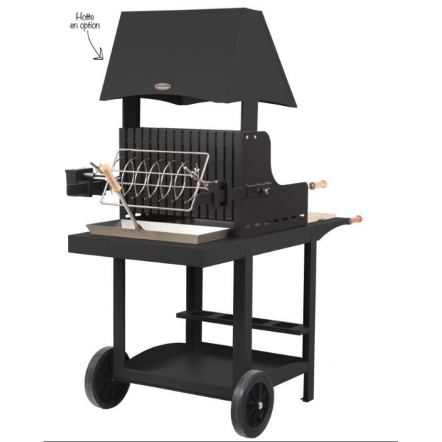 barbecue mauleon noir barbecue charbon avec double foyer ind pendant. Black Bedroom Furniture Sets. Home Design Ideas