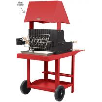 Barbecue charbon de bois Le Marquier Mauleon rouge