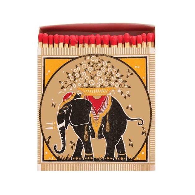 Allumettes collector Gold elephant 11 cm