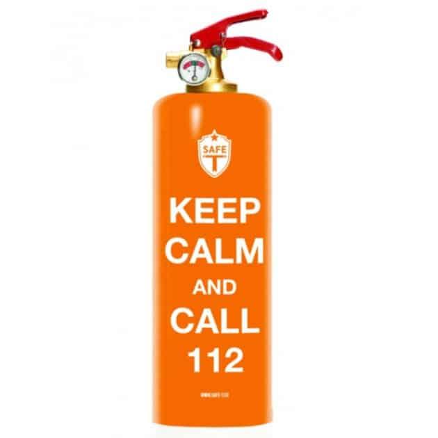 Extincteur SAFE-T Keep Calm Orange