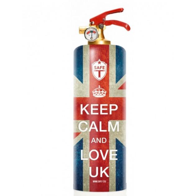 Extincteur SAFE-T Keep Calm And Love UK