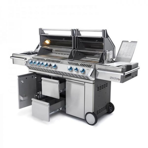 Le mod le pro 825 infrarouge inox sur chariot le barbecue - Barbecue infrarouge gaz ...