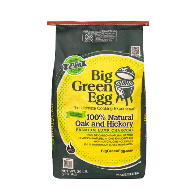 Charbon de bois Big Green Egg sac 4,5 kg