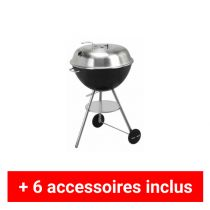 Pack plus barbecue charbon Nature Twin Shell 58