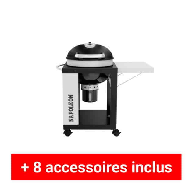 Pack plus barbecue charbon Napoleon Rodeo NK22-C