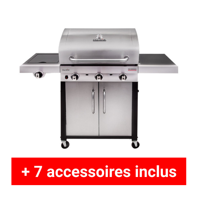 Pack plus barbecue gaz charbroil performance 340s for Housse pour barbecue gaz