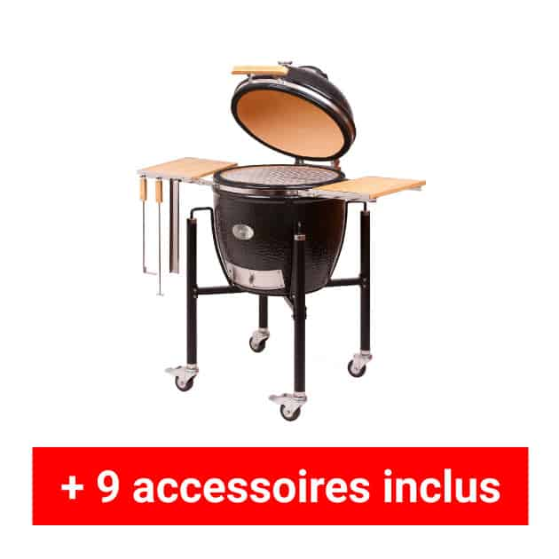 Pack plus barbecue Kamado Monolith classic sur chariot