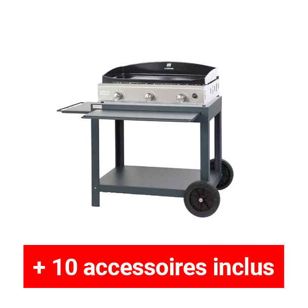 pack plus plancha gaz le marquier amalia 75 inox sur. Black Bedroom Furniture Sets. Home Design Ideas