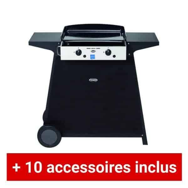 pack plus plancha gaz eno oc ane sur chariot avec 10 accessoires. Black Bedroom Furniture Sets. Home Design Ideas
